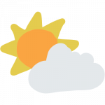 Cloud and Sun-Icon