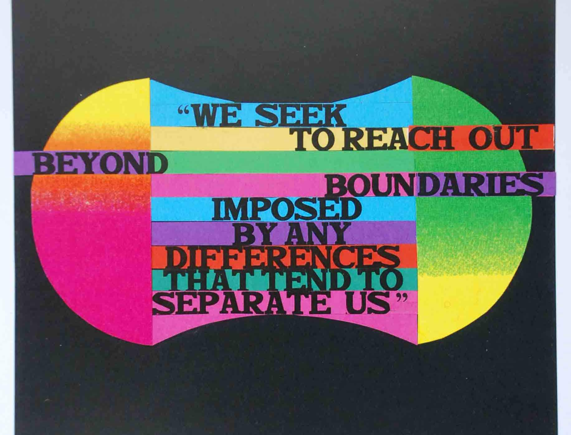 Strobridge art with colorful quote