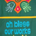 Bless our works and guide our ways handcrafted Stro banner