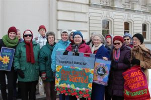 Loretto members gathered at the Ky. State Capitol for I Love Mountains Day.