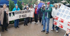 Members of the Louisville community gathers for the march. (Photo courtesy of Pat Geier)