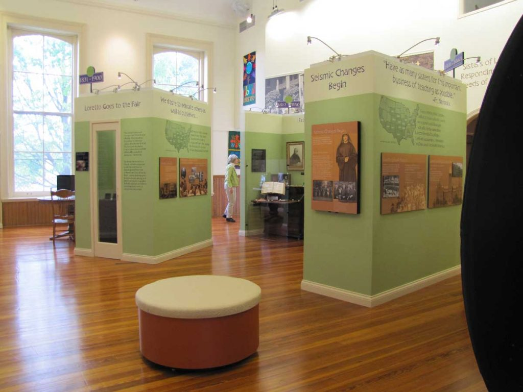 Photo of museum displays in the Heritage Center