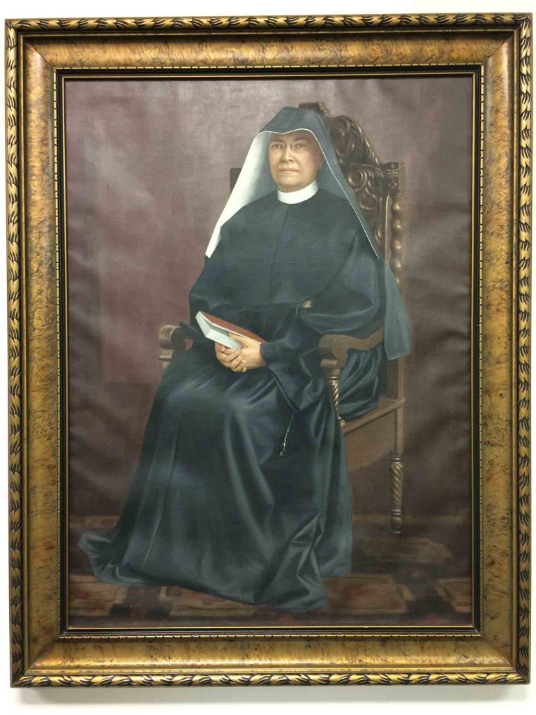 Portrait of Mother Praxedes Carty, Mother General of Loretto 1896-1922.
