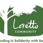 Outline of a tree framing the Loretto Community logo