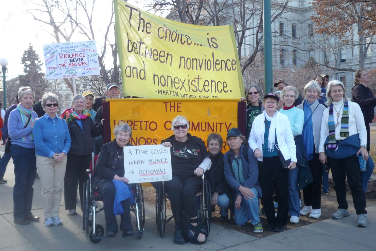 Group photo of Loretto Community members participating in the Denver MLK Marade