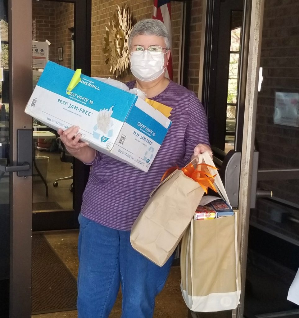 Liz Perez delivers packages at MH