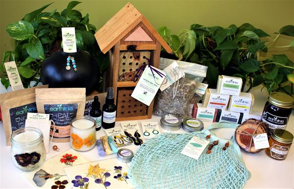 Display of handmade products for sale from EarthLinks