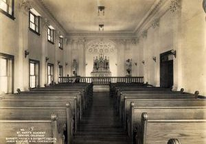 Photo of St. Mary's Academy Chapel, where the Sisters would have had Mass Nov. 11, 1918.