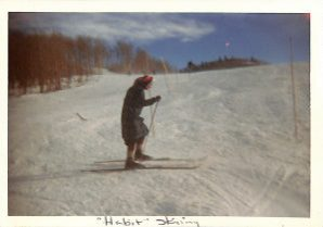 McElroy, Mary Ellen skiing 1960s CO 2