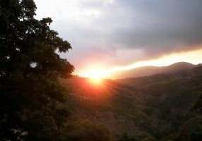A Haitian sunrise offers hope of better days to come.