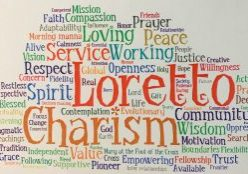 Word art consisting of different values of the Loretto Community