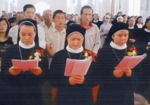 Vow ceremony for St. Mary Sisters square